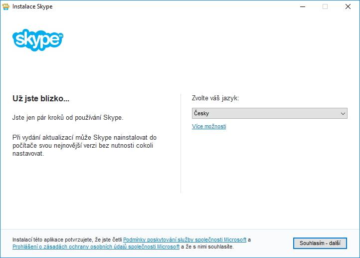 Už jsme skoro blízko - pokud nás systém nechá nainstalovat klasickou verzi Skypu