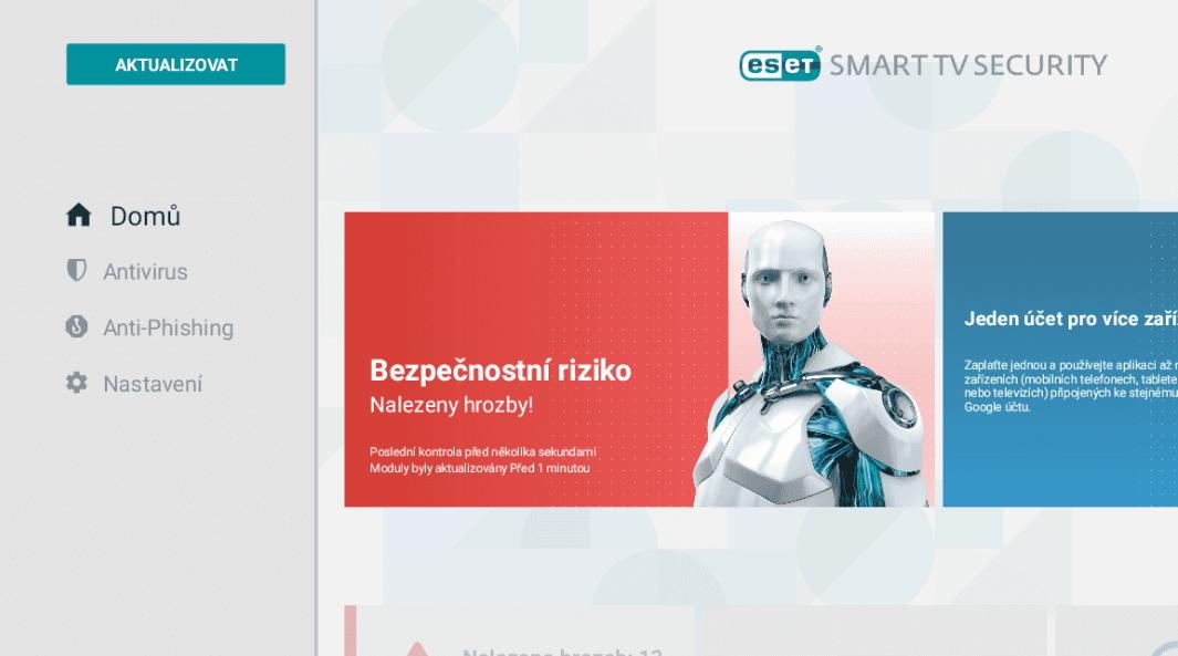 Zabezpečení od Eset v podobě aplikace pro chytré televize (Zdroj: Lupa.cz)