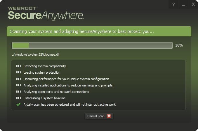 Instalace a první sken zařízení v podání Webroot SecureAnywhere AntiVirus