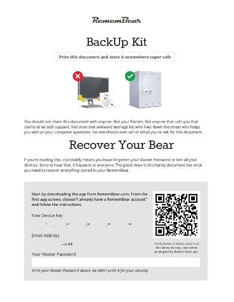 Backup Kit pro případy nouze