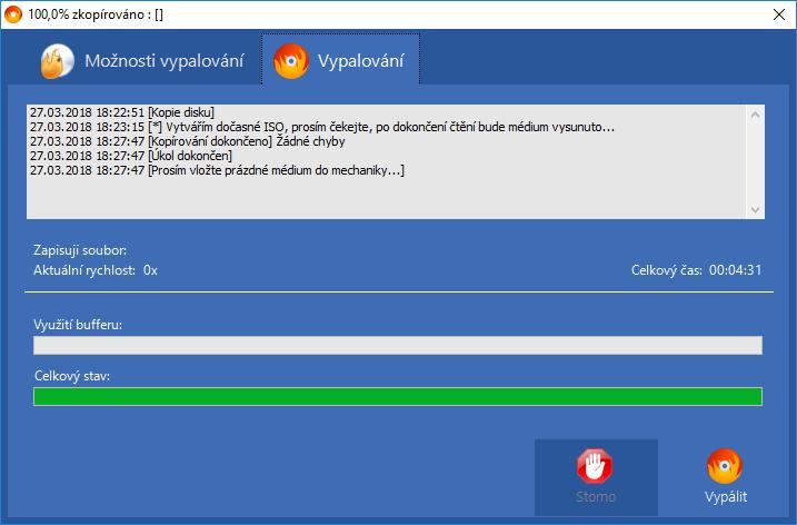 Zkopírování zdrojového disku (bootovacího CD Ubuntu) během 5 minut