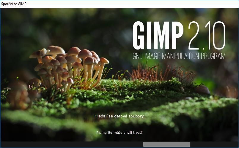Nové spouštěcí okno GIMPu 2.10