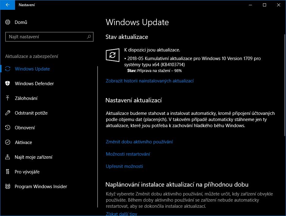 Kumulativní aktualizace KB4103714 snad odstraní i problémy s povyšováním na Aprílový update