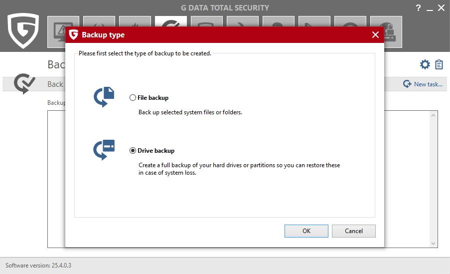 Zálohovat lze vše od souborů a adresářů až po systémová umístění, celé partitiony a disky