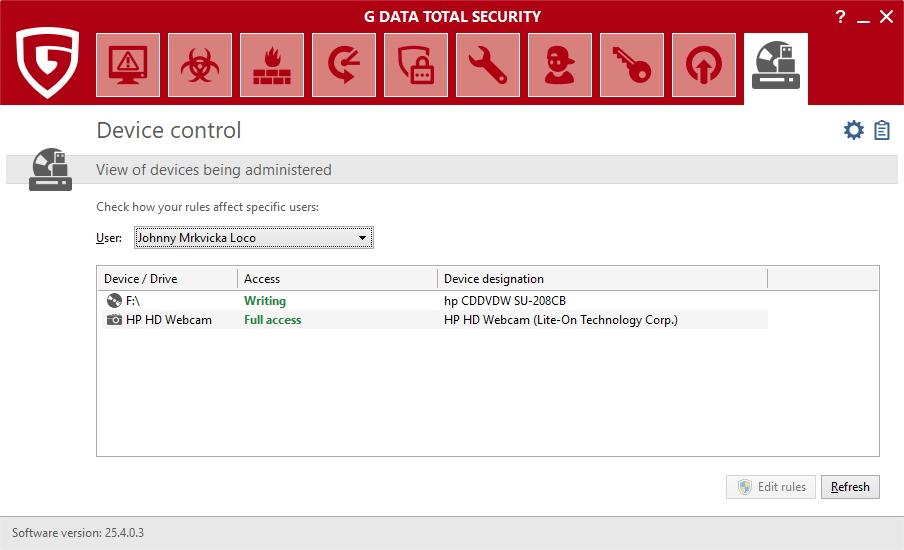 Device control umožní zcela odepřít přístup k zařízení