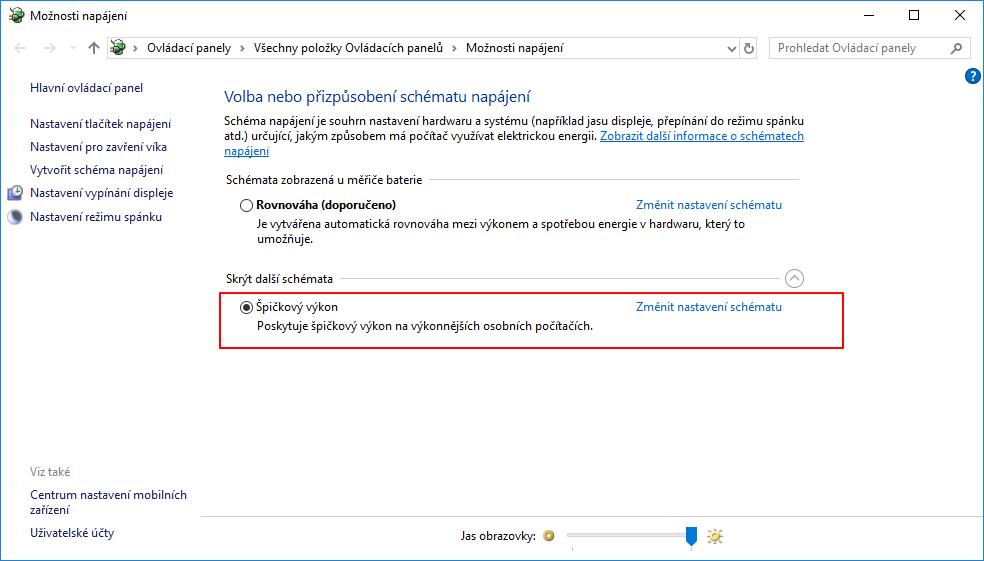 A Špičkový výkon je k dispozici - i bez sebeidentifikace Windows pro pracovní stanice