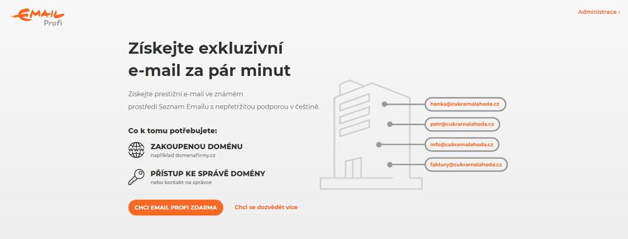 Stačí jen zadat vlastní doménu, změnit MX záznamy a máte email s vlastní doménou!