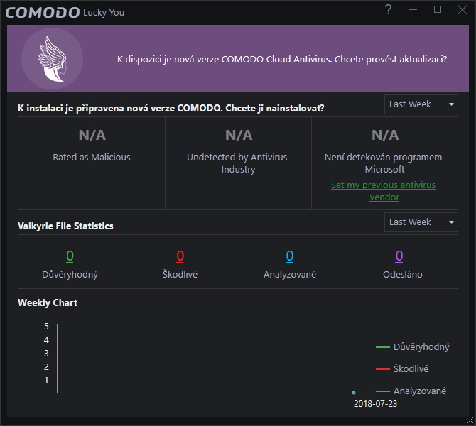 Máme my to štěstí, že Comodo prezentuje výsledky Valkyrie zvlášť - coby Lucky You