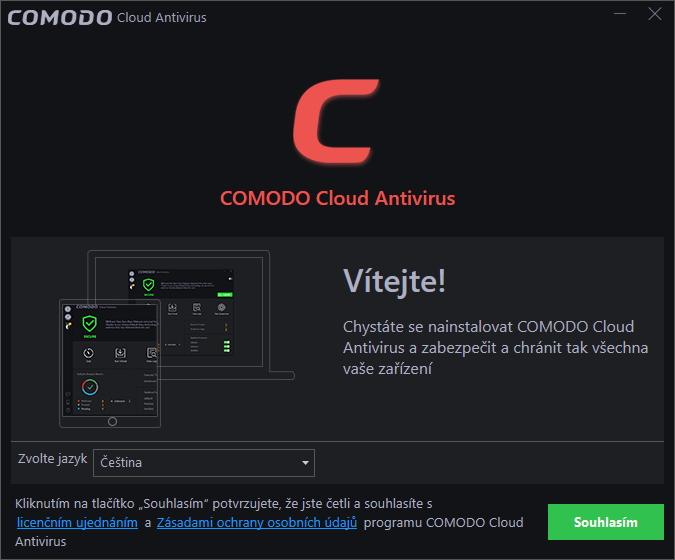 Už instalátor Comoda je pojat cloudově a nenáročně: má 10 MB a provádí online instalaci