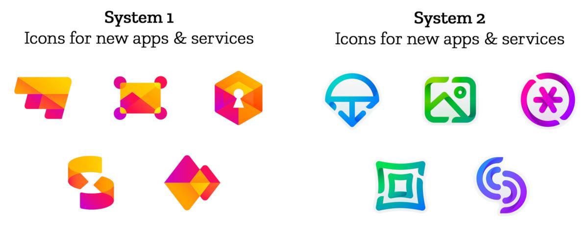 ...a takhle ikonky maličkých aplikací a služeb