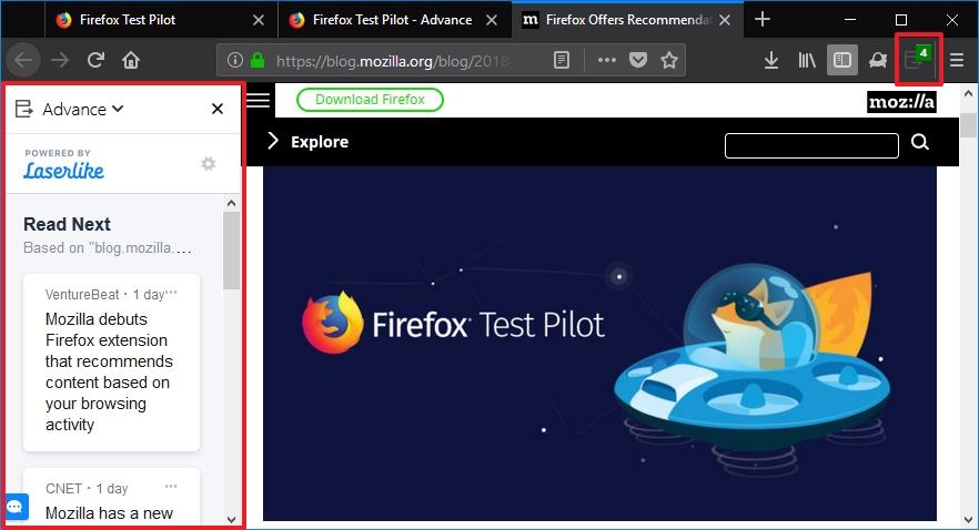 Podoba Firefox Advance