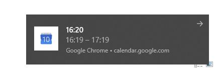 Push notifikace Chromu v nativním zobrazení Windows 10