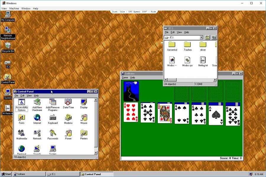 Staré a známé prostředí Windows 95