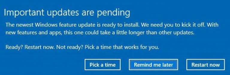 Anglická verze oznámení o tom, že data povýšení už jsou fakticky na počítači a připravena k instalaci