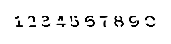 1, 2, 3, 4, 5: čísla v pojetí fontu Sans Forgetica