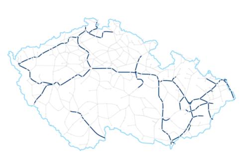 Stav pokrytí spojů pomocí Wi-Fi k dubnu 2016 (Zdroj: ČD.cz)