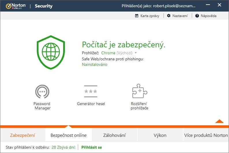 Bezpečnost online směřuje ven z programu - do prohlížečů a na web Nortonu