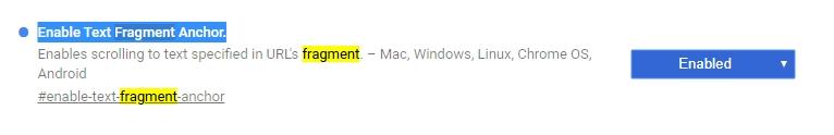 Experimentální vlajku Enable Text Fragment Anchor už najdeme ve vývojářské větvi Google Chrome Canary