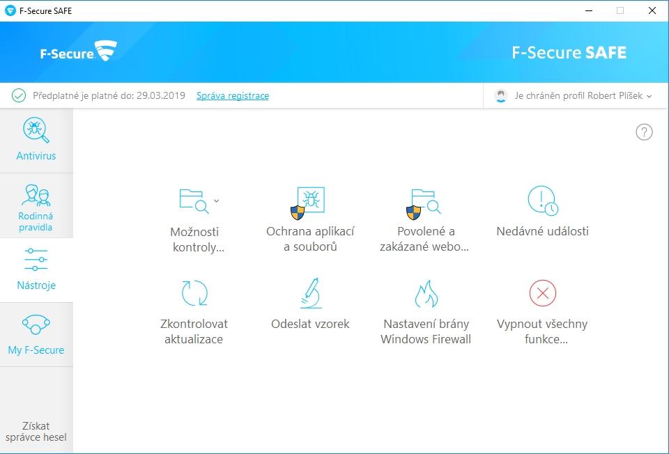 F-Secure Total: jen ty Nástroje nejsou moc nástroje, ale spíše všehochuť všeho možného