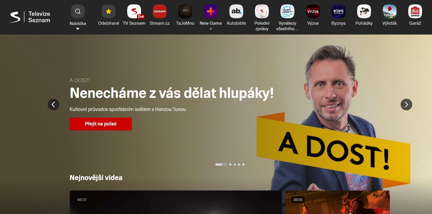 Seznam si už získal věrné diváky zajímavými pořady - teď je na čase rozšířit jejich řady (Zdroj: TelevizeSeznam.cz)