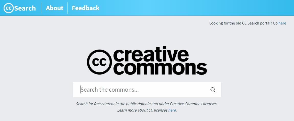Jednoduchý, ale funkční: CC Search (Zdroj: CreativeCommons.org)