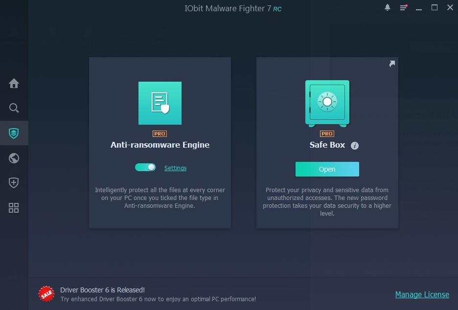 Data Protect IObit Malware Fighter 7 je určena k ochraně dat před ransomwarem a neautorizovaným přístupem