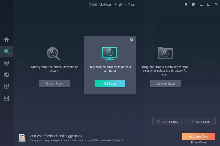 IObit Malware Fighter 7: sken Rychlý, Úplný a Cílený
