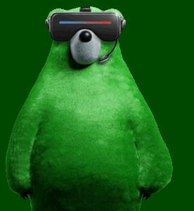 Zelený medvěd se nevyhýbá ani virtuální realitě (Zdroj: Zelenymedved.cz)