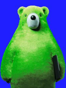 Já jsem Medvěd. Tlustý. A velký - jako Rusko. A když je nebezpečí, zrudnu :D (Zdroj: Zelenymedved.cz)