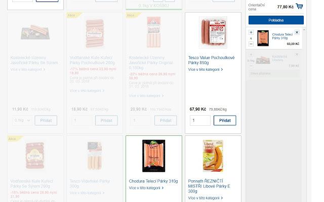 Výběr je hned jednodušší, když se vyfiltrují nekvalitní potraviny (Zdroj: Internetový obchod Chrome)