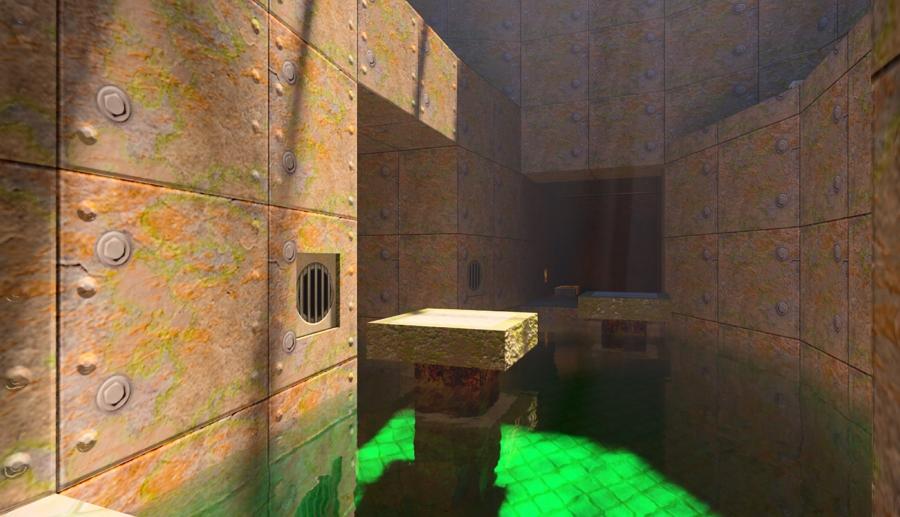Quake II RTX už vůbec nevypadá jako brouzdání se rozkostičkovanými temnými norami (Zdroj: nvidia.com)