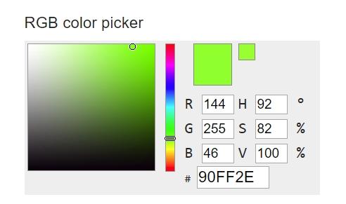 RGB hodnoty konkrétní barvy a odstínu najdeme v Paletě barev rozličných webových aplikací - třeba v RGB Color Codes Chart (Zdroj: RGB Color Codes Chart)