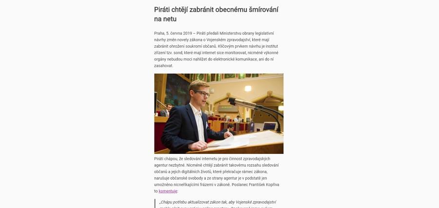 Článek Instaluj.cz zobrazený v režimu čtečky v Chrome 75