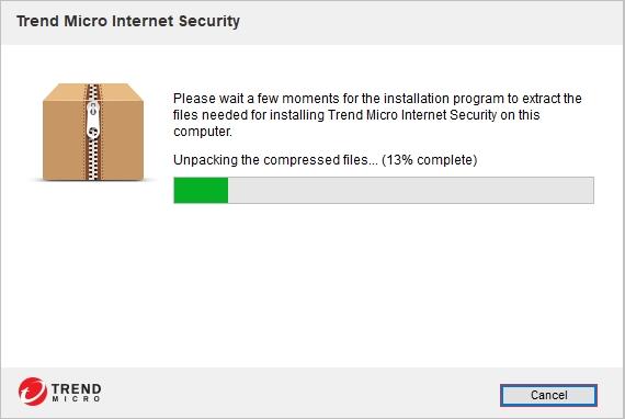 Trend Micro Internet Security má offline instalátor - a ten je třeba rozbalit