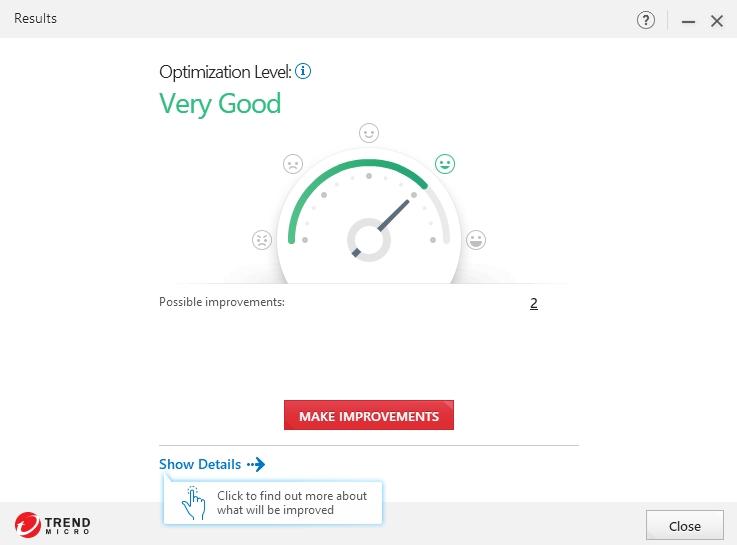 PC Health Checkup obecně zhodnotí úroveň optimalizace Windows a poskytne detaily ke zlepšení