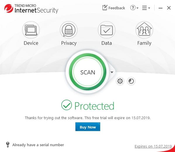 Vizuální pojetí konzole Trend Micro Internet Security si našlo cestu k modernímu vzhledu