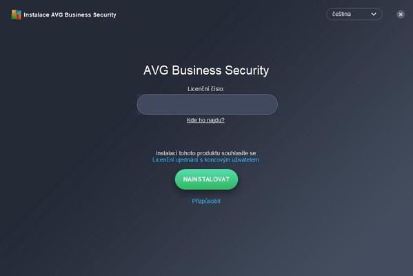 Produkty AVG Business Security vyžadují už při spuštění licenční číslo