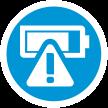 Ikonka, která vám pomůže s identifikací závadné či potenciálně vadné baterie (Zdroj: HP.com)