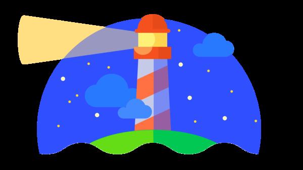 Maják je symbolem vývojářského nástroje Lighthouse pro testování rychlosti, který je integrován přímo v Google Chrome