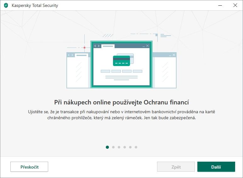Kaspersky Total Security nabídne rychlé seznámení s aplikací pomocí průvodce