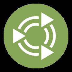 Ubuntu MATE hledejte pod přestylizovanou ikonou Ubuntu do podoby zeleného kola se soustřednými kruhy a trojúhelníky mířícími do středu (Zdroj: Ubuntu-mate.org)