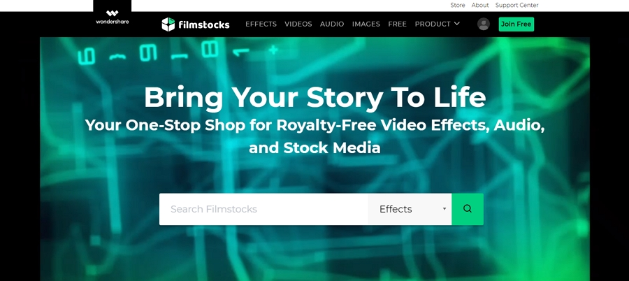 Filmstocks.com: jestliže máte dojem, že vám nějaký efekt, filtr, grafický prvek, zvuk, vzorek hudby či videa chybí - najdete ho zde