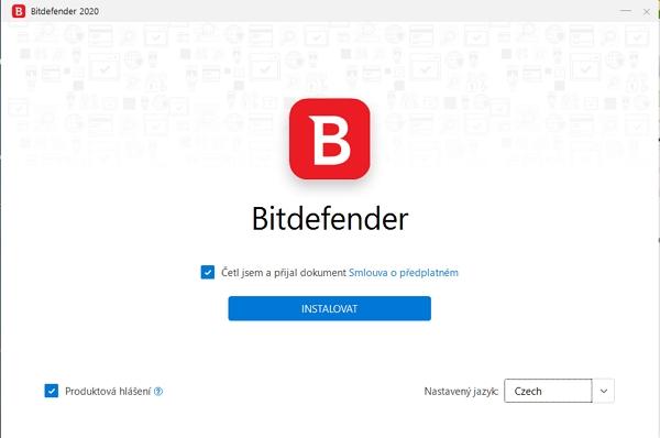 Bitdefender Premium: čeština potěší, automatický výběr systémového umístění nikoliv