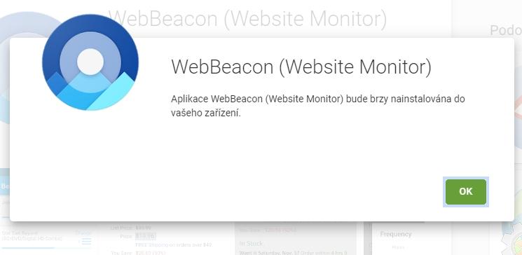 Po autorizaci na desktopu začne mobilní verze aplikačního obchodu rovnou instalovat appku (Zdroj: Google Play)