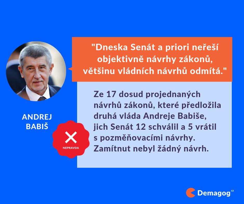 Další klasický syžet: To NE my, to ONI (Zdroj: Demagog.cz)