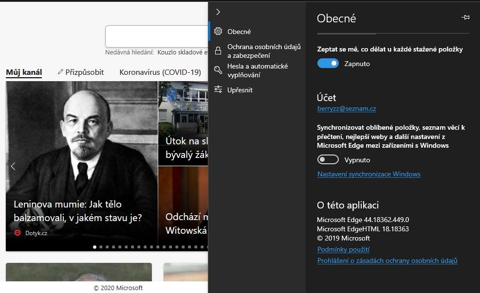 Starý Microsoft Edge: už mumie typu Vladimíra Iljiče