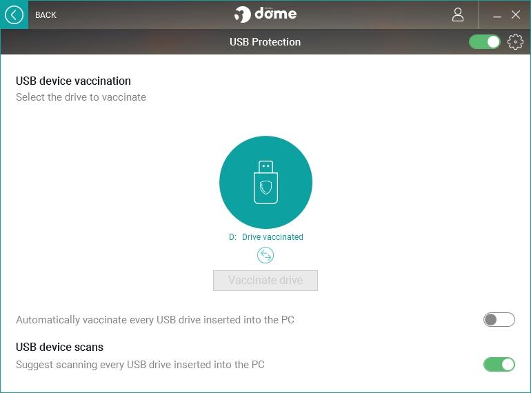 USB Protection nabízí antivirovou kontrolu USB a jeho vakcinaci