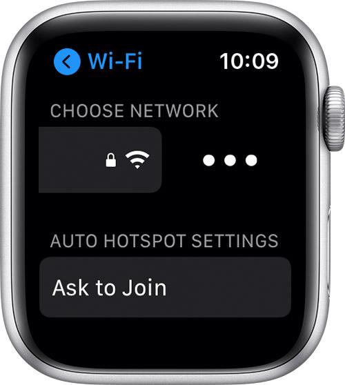 Vyberte jméno připojené Wi-Fi sítě a ťukněte na něj (Zdroj: Support.apple.com)