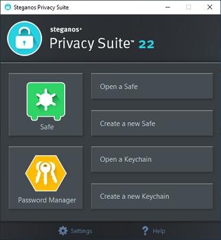 Maximálně jednoduché rozhraní Steganos Privacy Suite