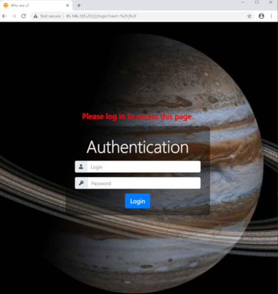 Obrázek přístupu do administračního rozhraní zavedl výzkumníky na ruskojazyčná fóra
